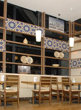 Декоративные элементы в кафе